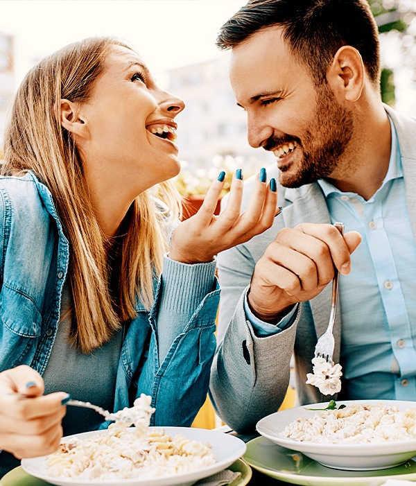 Eating Pasta on a first date